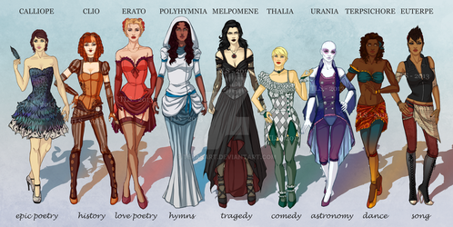 The Muses by TeraSArt