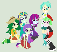 EQG Background Characters Main six by Appimena
