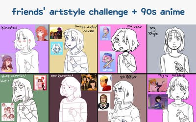 artstyle challenge!! (WIP) by BabyMallows