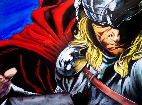 Thor God of Thunder by dx