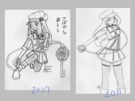 Art Comparison: 2007 and 2011 by Pandarax