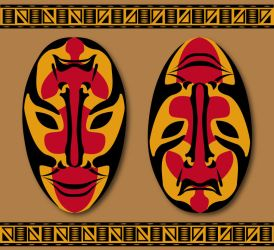 African double mask by MisterMoka