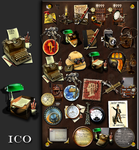Steampunk icon set in .ICO format by yereverluvinuncleber