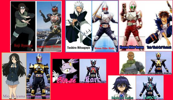Kamen Rider Blade Portrayed by Any Characters by Tabacookie