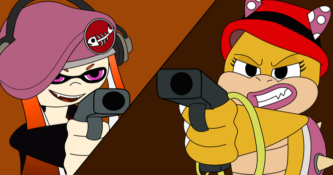 The Mario Mafia- Meggy and Wendy Standoff by Jazzcat00