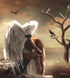 The wounded angel by Adriana-Madrid