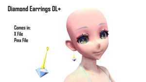 [MMD Request] Diamond Earrings DL+ by Haztract