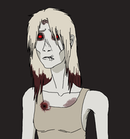 Super old L4D OC: Blanched The Witch by Redspets