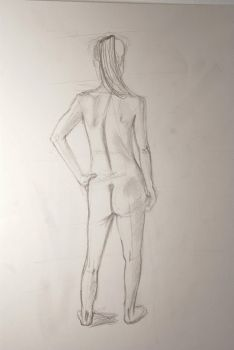Life Drawing study 1 by cyberkit-ekat