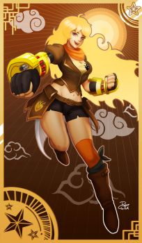 RWBY: Yang Xiao Long by Papercloudzy