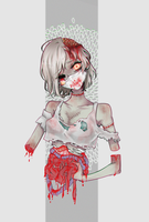 Zombie Girl by hamaliin