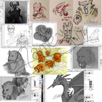 WIPs Galore! by FlameFatalis