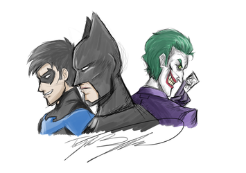 Batman, Joker, and Nightwing - Stream Results by TaylorBoykin