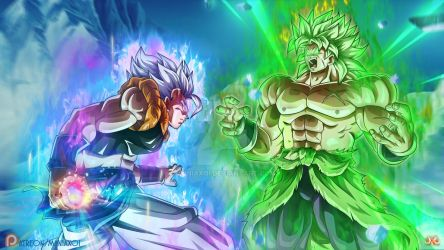 Gogeta VS Broly by Maniaxoi