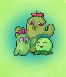 Cactus Family by ImmorticiaKira