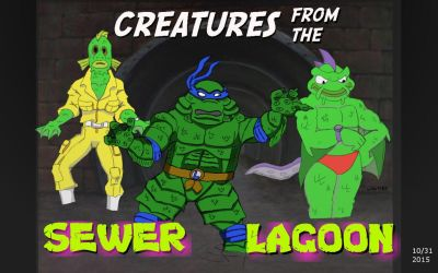 Creatures from the Sewer Lagoon by oldmanwinters