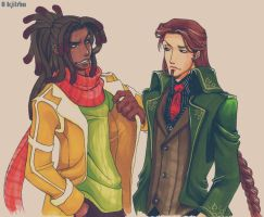 Zack and Cesare by vejiicakes