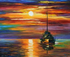 Calm Sunset by Leonid Afremov by Leonidafremov