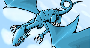 Blue Eyes White Dragon by HorrorDance