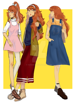 Mabel fashion sketches by 147cm