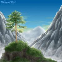 Lonely pine by Mildegard