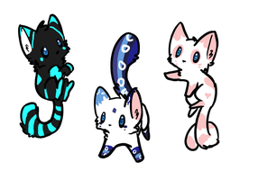 Kitten adoptables: CLOSED by FluffballAdopts