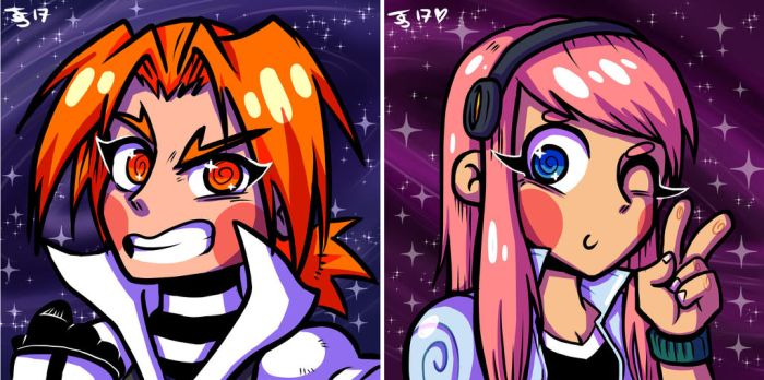space babes by JammyScribbler