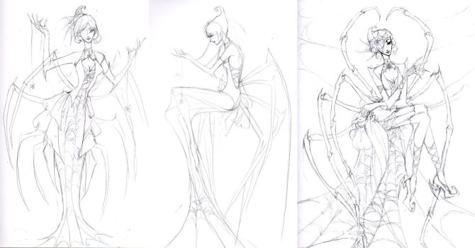 Aranea Sketches by ember-snow