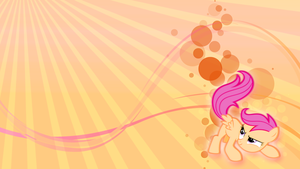 Scootaloo on the wall! by toruviel
