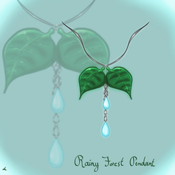 Adoptable rainy forest pendant [CLOSED] by Saberryna