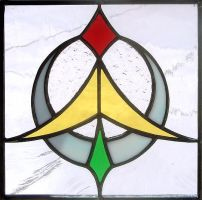 Moon Flight Stained Glass by bigblued