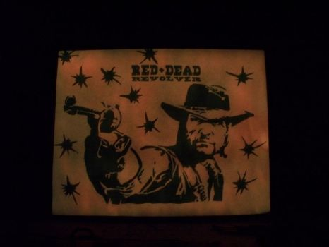 Glowing Red Dead Revolver Sign by johnlewisbrooks