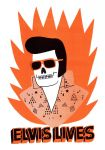 Elvis Lives Risograph by Teagle