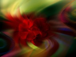 Abstract texture Red waltz by Mumuza