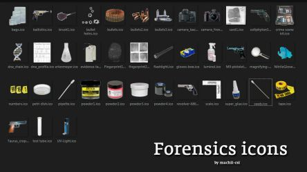 Forensics icons by Machii-csi