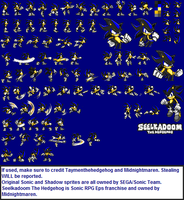 Seelkadoom The Hedgehog Sprite Sheet by TaymenTheHedgehog
