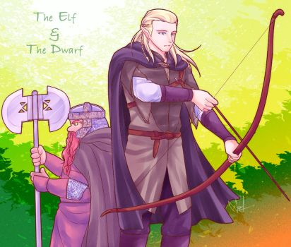 The Elf and The Dwarf by NEWLL