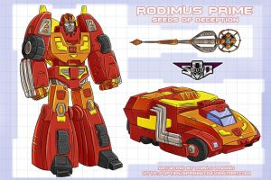 Art for Rodimus Prime concept by Tf-SeedsOfDeception