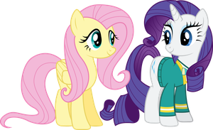 Fluttershy complimenting the PonyTones (S04E14) by DJDavid98