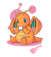 :Dragonite: by MeguBunnii