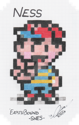 PIXEL|Ness - EarthBound by Neo-the-Hedgefox