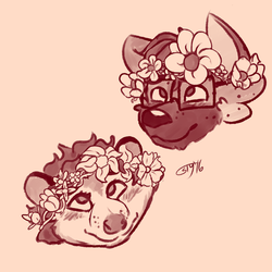 COMMISSION: Flower Crowns by ScreenDrawingShit