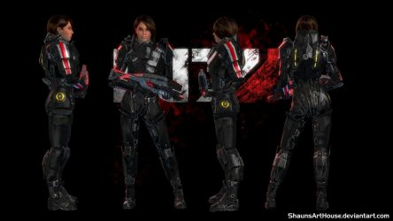 Mass Effect - Ashley N7 Destroyer Wallpaper by ShaunsArtHouse