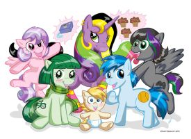 My Little Pony Cousins by MaryBellamy