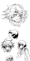 Ndrv3 sketches/drawings by just-some-cat