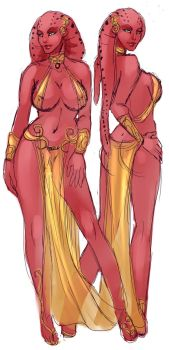 Twin Lethans - Azuria and Aruna by Nascha80