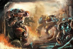starcraft marine's attack by VitoSs