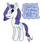 Inspirational Quote: Rarity by Bubblesthewolf5678