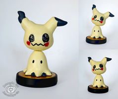 Mimikyu Custom Amiibo (with Poseable Head) by Amandkyo-Su
