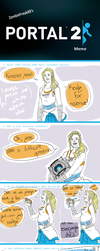 Portal 2 meme with spoilers by Failtality